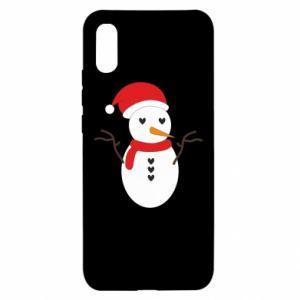 Xiaomi Redmi 9a Case Snowman in hat