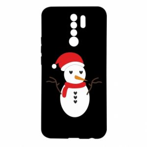 Xiaomi Redmi 9 Case Snowman in hat
