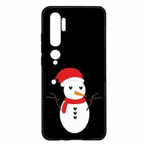 Xiaomi Mi Note 10 Case Snowman in hat