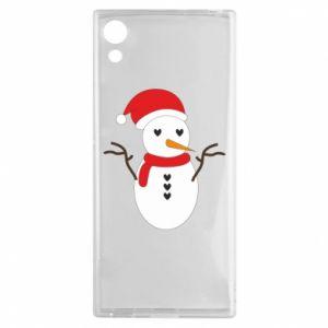 Sony Xperia XA1 Case Snowman in hat