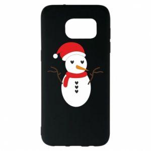 Samsung S7 EDGE Case Snowman in hat