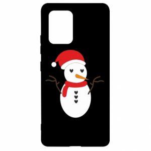 Samsung S10 Lite Case Snowman in hat