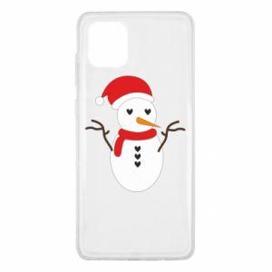 Samsung Note 10 Lite Case Snowman in hat