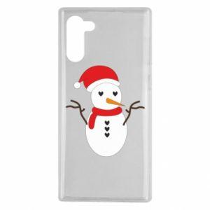Samsung Note 10 Case Snowman in hat