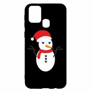 Samsung M31 Case Snowman in hat
