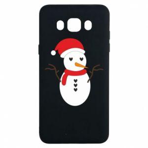 Samsung J7 2016 Case Snowman in hat