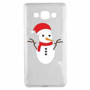 Samsung A5 2015 Case Snowman in hat
