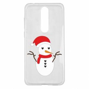 Nokia 5.1 Plus Case Snowman in hat