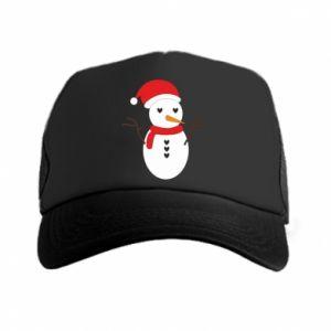 Trucker hat Snowman in hat