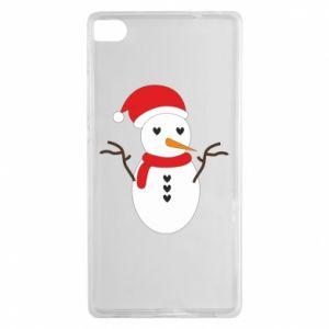 Huawei P8 Case Snowman in hat