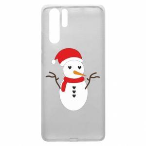 Huawei P30 Pro Case Snowman in hat