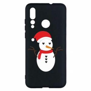 Huawei Nova 4 Case Snowman in hat