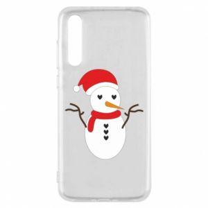 Huawei P20 Pro Case Snowman in hat