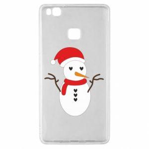 Huawei P9 Lite Case Snowman in hat