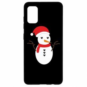 Samsung A41 Case Snowman in hat
