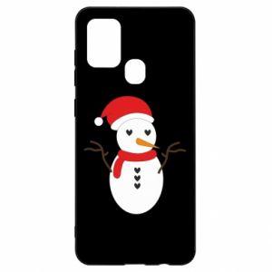 Samsung A21s Case Snowman in hat