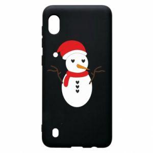 Samsung A10 Case Snowman in hat