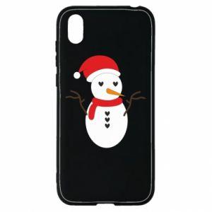 Huawei Y5 2019 Case Snowman in hat
