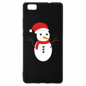 Huawei P8 Lite Case Snowman in hat