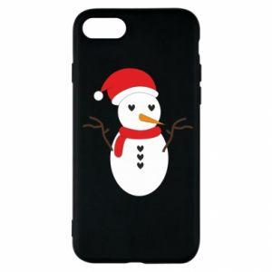iPhone SE 2020 Case Snowman in hat
