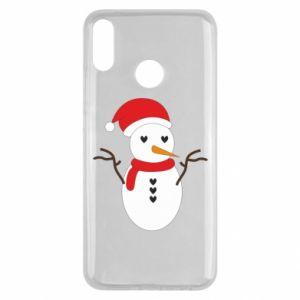 Huawei Y9 2019 Case Snowman in hat