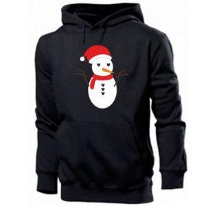 Men's hoodie Snowman in hat