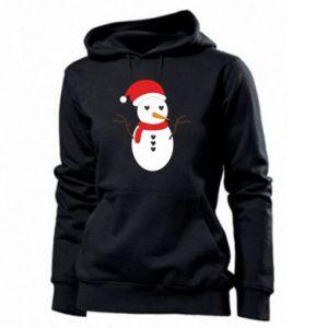 Women's hoodies Snowman in hat