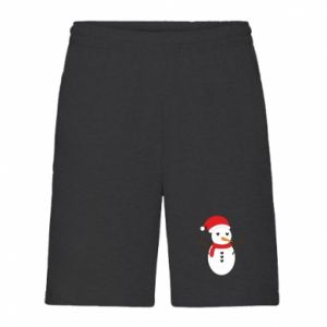 Men's shorts Snowman in hat