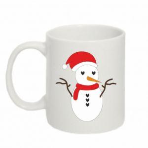 Mug 330ml Snowman in hat