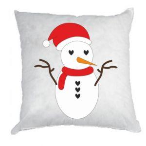 Pillow Snowman in hat