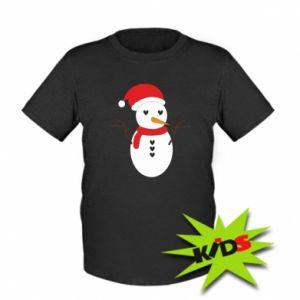 Kids T-shirt Snowman in hat