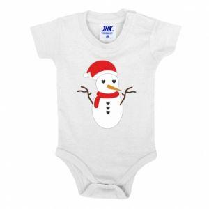 Baby bodysuit Snowman in hat