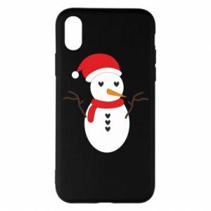 iPhone X/Xs Case Snowman in hat