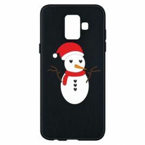 Samsung A6 2018 Case Snowman in hat