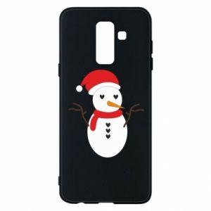 Samsung A6+ 2018 Case Snowman in hat