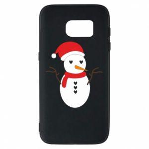 Samsung S7 Case Snowman in hat