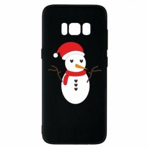 Samsung S8 Case Snowman in hat