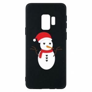 Samsung S9 Case Snowman in hat