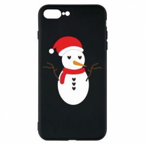 iPhone 8 Plus Case Snowman in hat