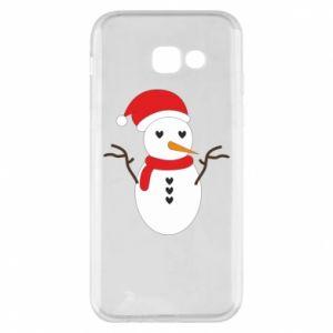 Samsung A5 2017 Case Snowman in hat