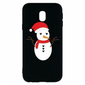 Samsung J3 2017 Case Snowman in hat