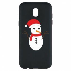 Samsung J5 2017 Case Snowman in hat