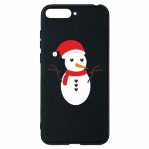 Huawei Y6 2018 Case Snowman in hat