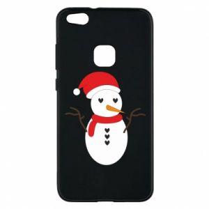 Huawei P10 Lite Case Snowman in hat