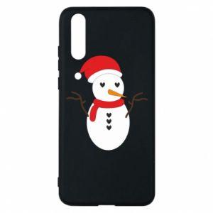 Huawei P20 Case Snowman in hat