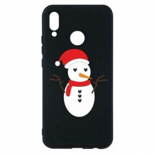 Huawei P20 Lite Case Snowman in hat