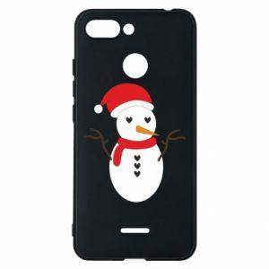 Xiaomi Redmi 6 Case Snowman in hat