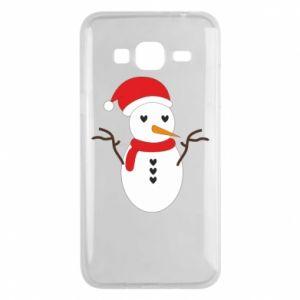 Samsung J3 2016 Case Snowman in hat