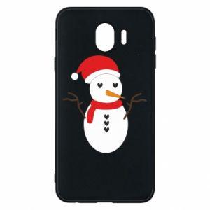 Samsung J4 Case Snowman in hat