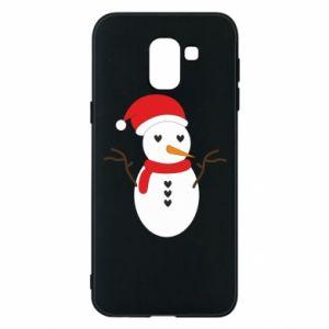 Samsung J6 Case Snowman in hat